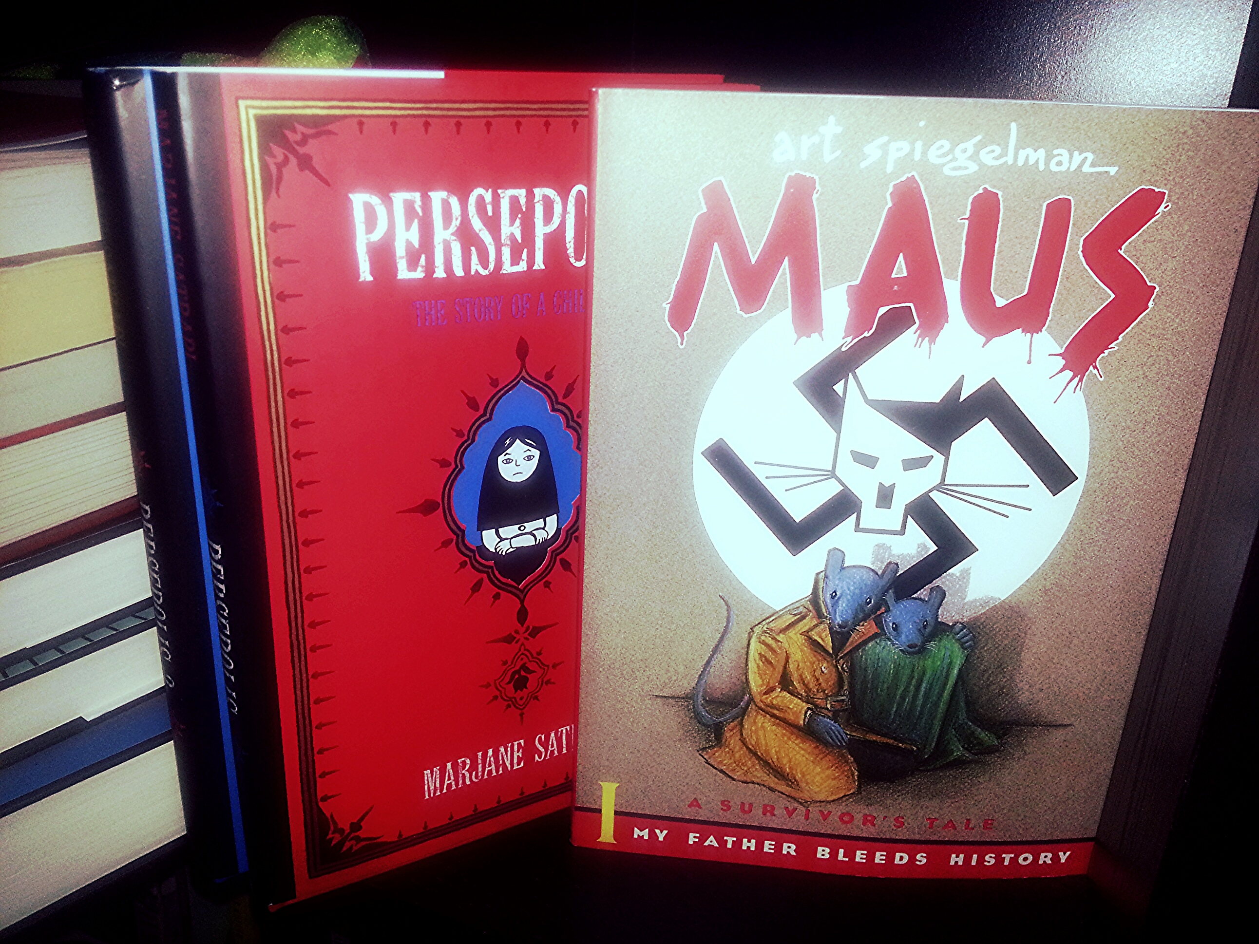 maus and persepolis About persepolis originally published to wide critical acclaim in france, where it elicited comparisons to art spiegelman's maus, persepolis is marjane satrapi's wise, funny, and heartbreaking memoir of growing up in iran during the islamic revolution.