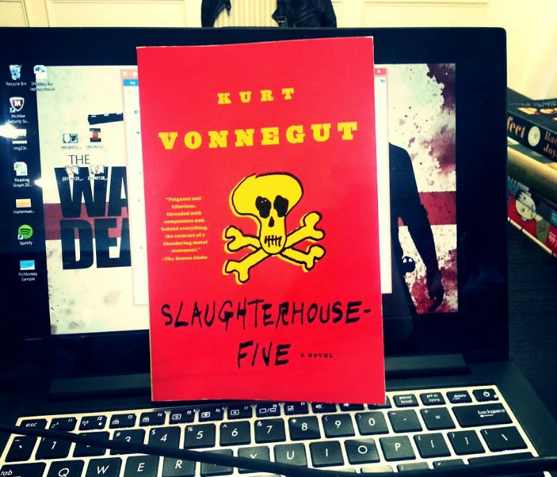 a critique of slaughterhouse five by kurt vonnegut The real title ends before the words by kurt vonnegut  the arbitrary cycle of slaughterhouse-five:  about how vonnegut came to write slaughterhouse-five.